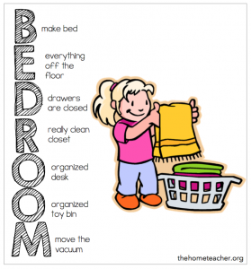 Acrostic Bedroom Cleaning Plan