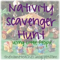 Little People Nativity Scavenger Hunt
